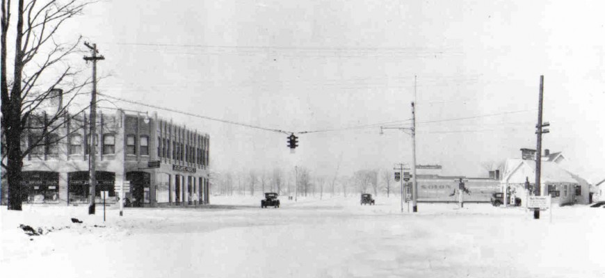 The corner of Aurora Rd (Rt 43) and SOM Center Rd (Rt 91) - 1928